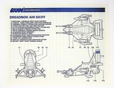 GI Joe Vintage Dreadnok Air Skiff Original Hasbro Vehicle Blueprints / Instructions Hasbro