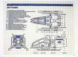 GI Joe Vintage Sky Hawk Original Hasbro Vehicle Blueprints / Instructions Hasbro
