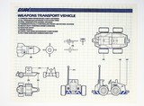 GI Joe Vintage Weapons Transport Vehicle Original Hasbro Vehicle Blueprints / Instructions Hasbro