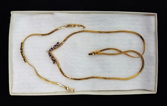 Gold-Tone Necklace & Bracelet Set