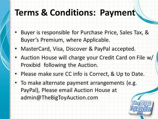 Terms and Conditions: Payment
