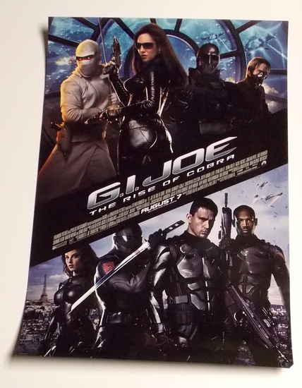 "G.I. Joe ""Rise of Cobra"" 16"" X 24"" Double Sided Movie Poster"
