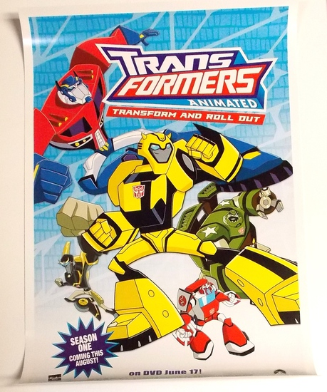 """Transformers Animated """"Transform and Roll Out"""" 2008 Botcon Convention Promo Poster"""