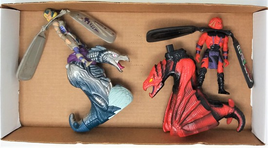 Tray Lot of Vintage Galoob Dragon Flyz & Launchers