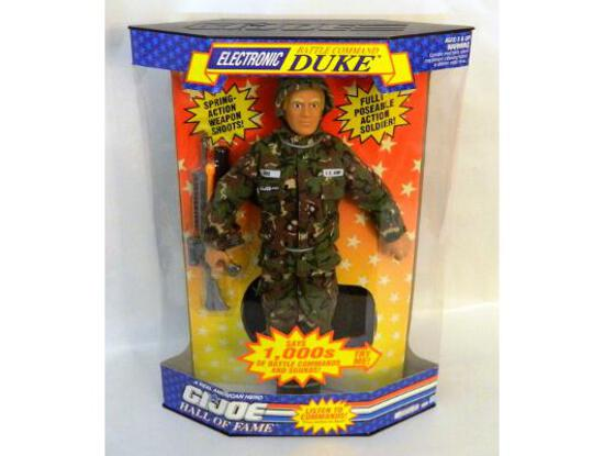 "G.I. Joe Electronic Battle Command Duke Hall of Fame ""Talking"" 1/6 Scale Boxed Figure"