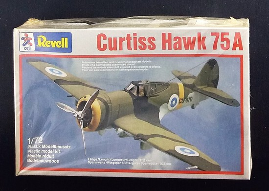 Revell 1/72 Curtiss Hawk 75A Military Jet Vehicle Model Kit