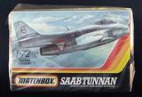 Matchbox 1/72 Scale Saab Tunnan Military Jet Vehicle Model Kit