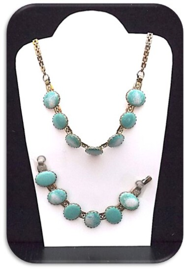 Necklace & Bracelet set w/ Turquoise