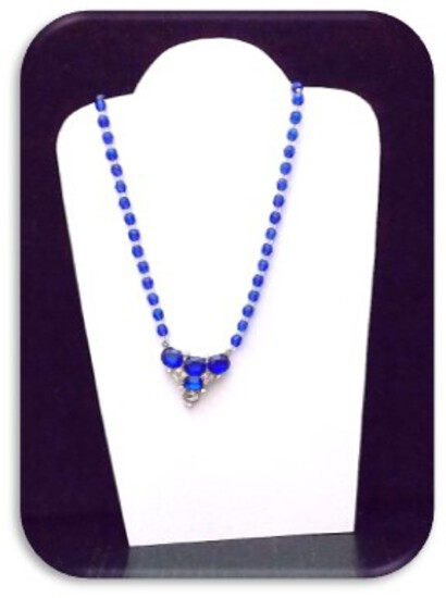 Necklace w/ Crystal Beads & Rhinestones