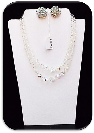 Laguna Necklace & Earring set w/ Aurora Borealis Crystal