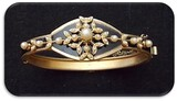 Bracelet w/ Faux Pearl & Enameling