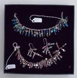 Lot of Sterling Silver Charm Bracelets & Earrings