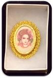 Vintage Brooch w/ Painted Porcelain Portrait
