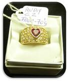 Cubic Zirconia/Ruby Fashion Jewelry Ring