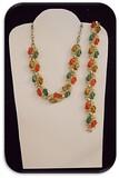 Vintage Necklace & Bracelet set w/ Multicolored Cabochons