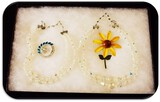 Lot of Necklaces, and Brooches with Clear Aurora Borealis and Rhinestones