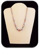 Vintage 1-Strand Choker-Type Necklace set w/ Aurora Borealis