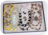Necklace, Earring, & Brooch Lot w/ Glass Beads