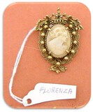 Florenza Brooch with Shell Cameo