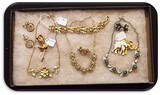 Lot of Coro, Giovanni Necklaces, Earrings, Bracelets and Brooches w/ Enameling & Rhinestones