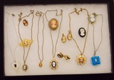 Lot of Necklaces, Earrings, & Brooches w/ Pendant Cameos