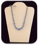 Vintage Czechoslovakian Necklace with Blue Crystal
