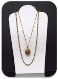 Necklace w/ Faux Pearl & Rhinestones