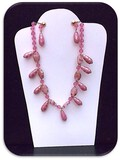 Necklace & Earring set w/ Celluloid & Glass Beads