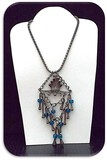 Early Victorian Pendant Necklace w/ Blue Stone