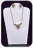 Necklace & Earring set w/ RhineStones