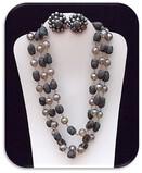 Necklace & Earring set w/ Celluloid & Aurora Borealis Beads