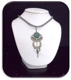 Necklace w/ Emerald Stone Pendant