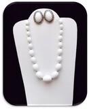 Necklace & Earring set w/ Milk Glass