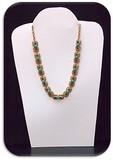 Necklace w/ Turquoise & Rhinestones