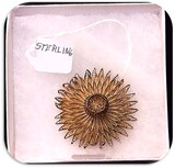Vintage Sterling Silver Brooch with Filigree
