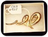 Vintage C.N.A. Sterling Silver Brooch
