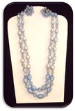 Vintage Necklace & Earring set w/ Blue Beads and Crystals