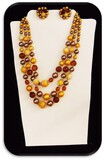 Vintage Necklace & Earring set w/ Yellow & Citrine Beads & Crystals