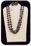 Vintage Austrian Necklace & Earring set w/ Violet Aurora Borealis