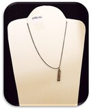 Sterling Silver Necklace with Hebrew Pendant