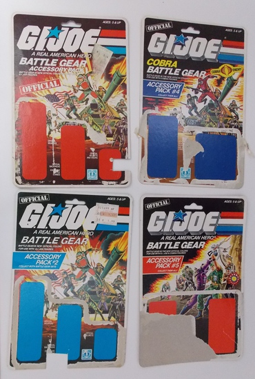 Lot of Vintage Partial GI Joe Card Backs