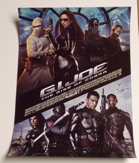 "G.I. Joe ""Rise of Cobra"" 16"" X 24"" Double Sided Movie Poster"