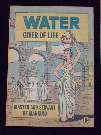 "1950 ""Water Giver of Life"" McDonalds Water Systems  Promotional Comic Book"