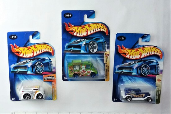 Collectible Hot Wheels 1/64 Scale Carded Diecast Car Grouping