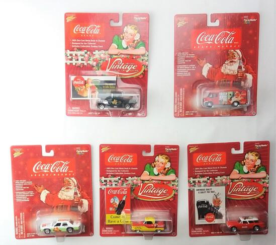 Johnny Lightning 1/64 Scale Christmas Coca Cola Diecast Car Set