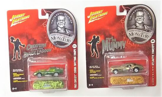 Johnny Lightning 1/64 Scale Universal Monsters Diecast Car Set