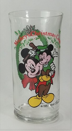 Mickey's Christmas Carol 1982 Collectible Drinking Glass