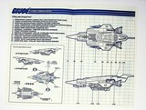 GI Joe Vintage Stellar Stiletto Original Hasbro Vehicle Blueprints / Instructions Hasbro