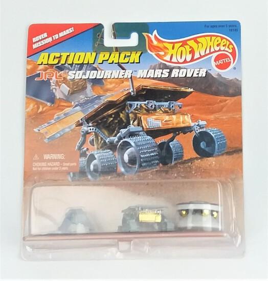Hot Wheels JPL Sojourner Mars Rover/Pathfinder/Lander Diecast Set