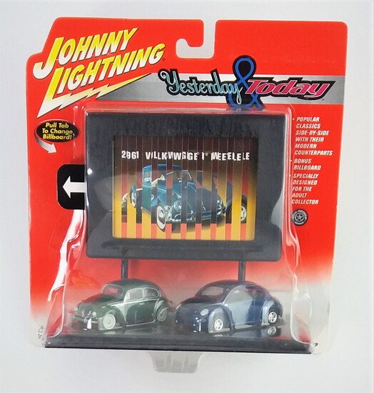 Johnny Lightning Yesterday And Today Volkswagen Beetle Diecast Car Set